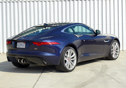 2016 Jaguar F TYPE S Coupe Manual back view