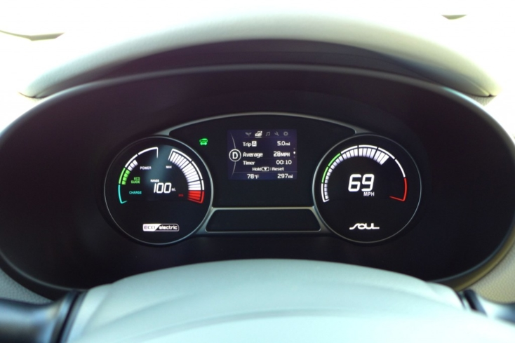 2015 Kia Soul EV gauges