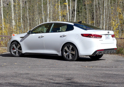 2016 Kia Optima 2.0T SX back view