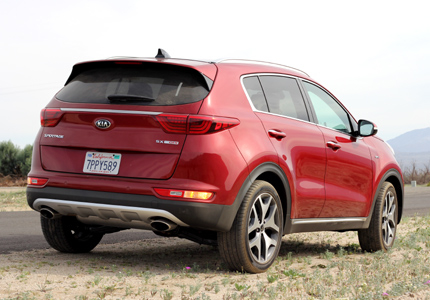 2017 Kia Sportage SX AWD rear view