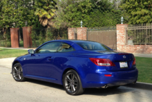 2014 Lexus IS350 Convertible F Sport rear view