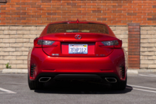 2015 Lexus RC 350 rear view