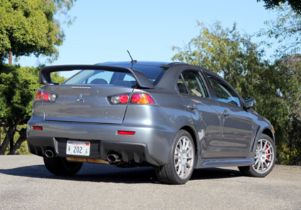 2015 Mitsubishi Lancer Evolution GSR back view