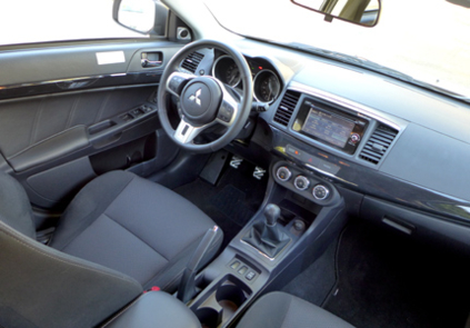 2015 Mitsubishi Lancer Evolution GSR interior view