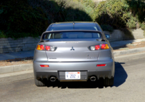 2015 Mitsubishi Lancer Evolution GSR rear view