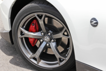2014 Nissan 370Z Nismo wheel and brake