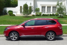 2014 Nissan Pathfinder Hybrid Platinum 4X2 side view