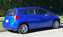 2014 Nissan Versa Note SV back view