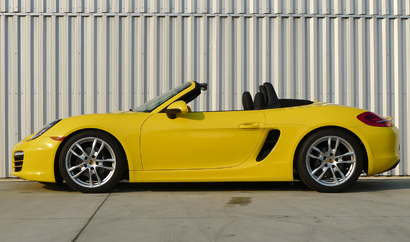 2014 Porsche Boxster side view