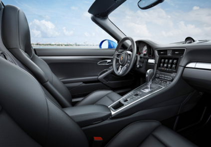 2016 Porsche 911 Targa 4 interior view