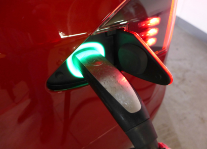 2016 Tesla Model S P90D Ludicrous charging port