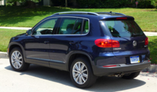 2013 Volkswagen Tiguan SE rear view
