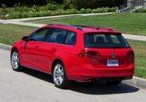 2016 Volkswagen Golf SportWagen back view