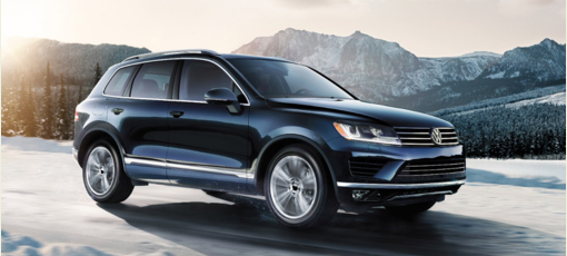 The 2017 Volkswagen Touareg, one of GAYOT's Top 10 Cars for Dads