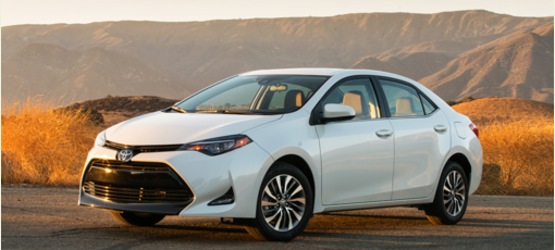 The 2017 Toyota Corolla, one of GAYOT's Best Cars for Teenagers