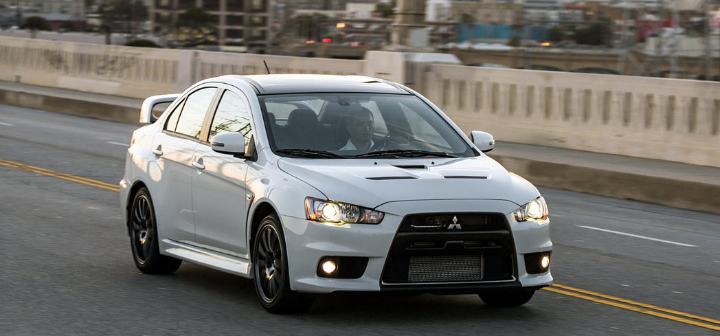 The 2015 Mitsubishi Lancer Evolution GSR, one of GAYOT's Best Muscle Cars