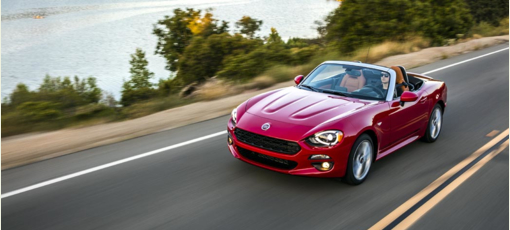 The 2017 Fiat 124 Spider, one of GAYOT's Best Sexy Cars