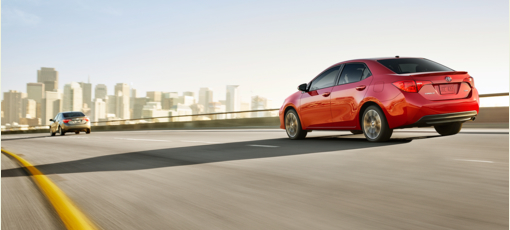 The 2017 Toyota Corolla featured on GAYOT's Best Small Cars list