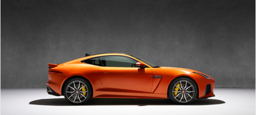 The 2017 Jaguar F-type SVR, one of GAYOT's Top 10 Sports Coupes