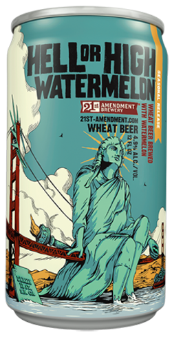 21st Amendment Hell or High Watermelon is brewed with real fresh watermelon