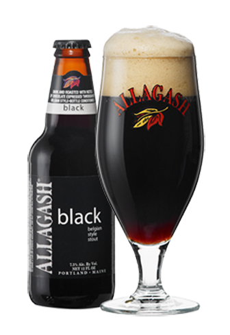 Allagash Black has flavors of chocolate and coffee