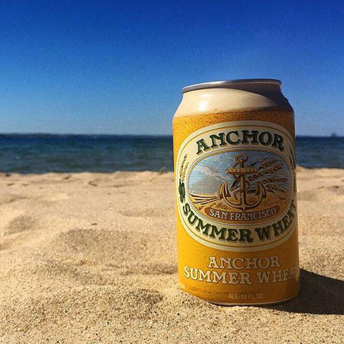 Anchor Summer Wheat has delicate citrus aromas and a light touch of herbal hops