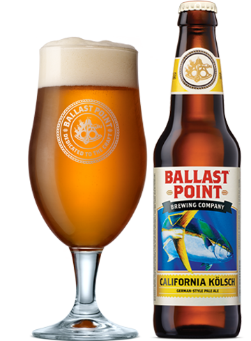 Ballast Point California Kölsch has a a crispness that is prevalent in pilsners