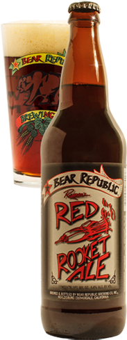 Bear Republic Red Rocket Ale has aromas of gingersnaps and marmalade