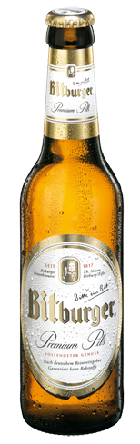 Bitburger Premium Pils has herbal hop aromas and a brisk lager finish