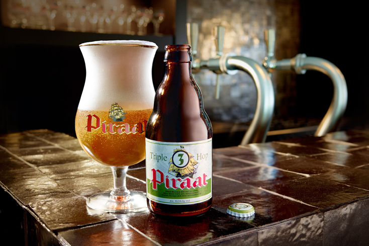 Brouwerij Van Steenberge Piraat Triple Hop has flavors of coriander-like spiciness and tropical fruits