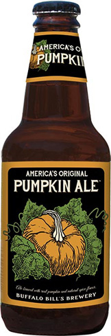 Buffalo Bill's Original Pumpkin Ale is brewed with baked and roasted pumpkins