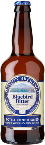 Coniston Brewing Co. Bluebird Bitter pairs well with  fish and chips or roast beef sandwiches