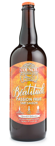 Council Brewing Beautitude Passion Fruit Tart Saison is a refreshing beer from San Diego, CA