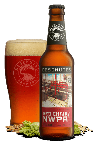 Deschutes Brewery Red Chair NWPA has a hoppiness moderated by citrus flavors