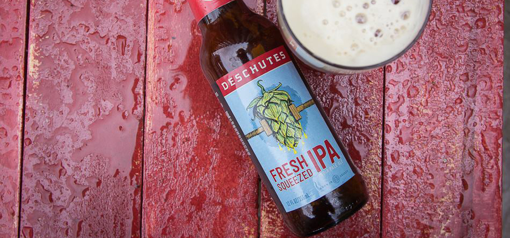 Deschutes Fresh Squeezed IPA offers intense citrus flavors
