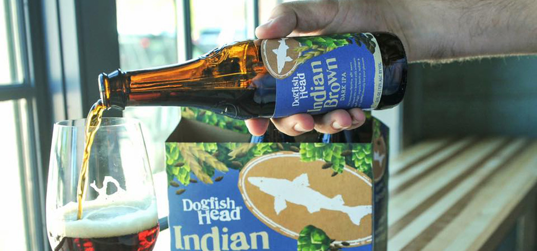 Dogfish Head Indian Brown Ale has aromas of milk chocolate and raisins