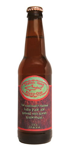 Dogfish Head Sixty-One is brewed with Syrah grape must