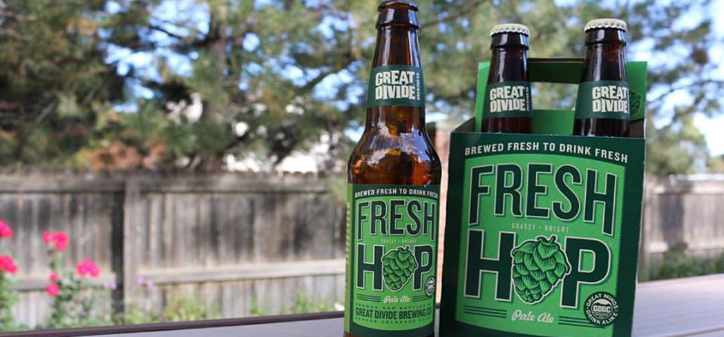 Great Divide Fresh Hop bursts with juicy green hop aromas