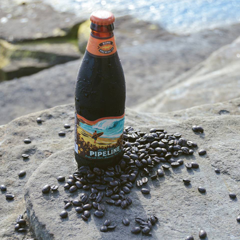 Kona Pipeline Porter is made with freshly roasted 100 percent Kona coffee