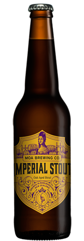 Moa Imperial Stout has chocolate and roasted malt notes