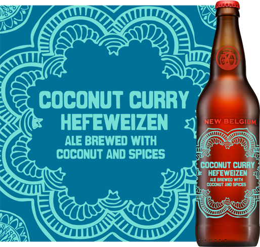 New Belgium's Coconut Curry Hefeweizen is a great match for a spicy meal