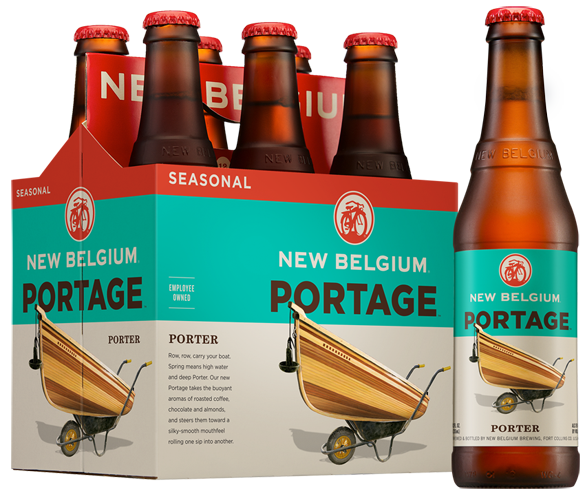 New Belgium Portage Porter has flavors of sweet vanilla tempered with a roasted bitterness