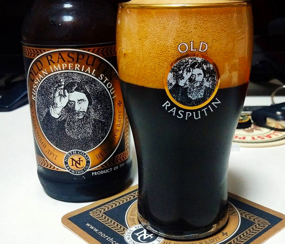 North Coast Old Rasputin Russian Imperial Stout sports big flavors and a warming finish