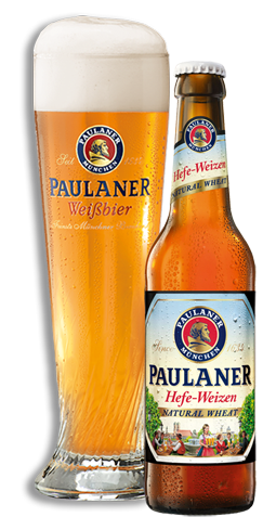 Paulaner Hefe-Weizen is a highly refreshing warm-weather beer