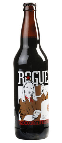 Rogue Chocolate Stout has aromas of chocolate-covered cherries and black coffee