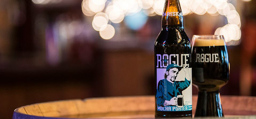 Rogue Mocha Porter is silken in texture and goes down easy