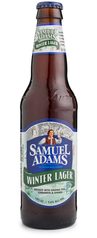 Samuel Adams Winter Lager is highly carbonated and judiciously spiced