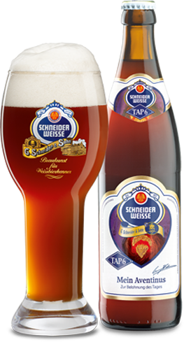 Schneider Weisse Mein Aventinus has aromas of freshly baked banana bread and cloves