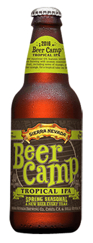 Sierra Nevada Beer Camp Tropical IPA is made with a variety of hops to create bright, fruit-forward flavors