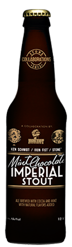 Stone Mint Chocolate Imperial Stout has flavors of coffee and caramel